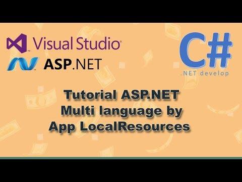 Tutorial  Microsoft Visual Studio ASP.NET C# Multi Language