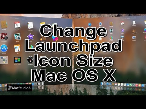 How To Change Icon Size in Launchpad in OS X