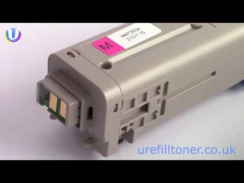 How to refill your own Oki C301dn, C321dn laser printer toner