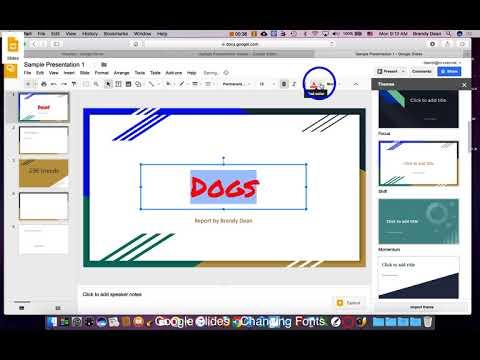 Google Slides - Changing Fonts