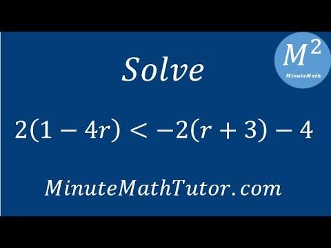 Solve 2(1-4r)‹-2(r+3)-4