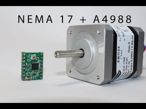How to Drive Nema 17 stepper motor using A4988 Driver