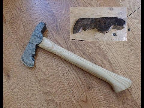 Hatchet Restoration: from ash log to new handle