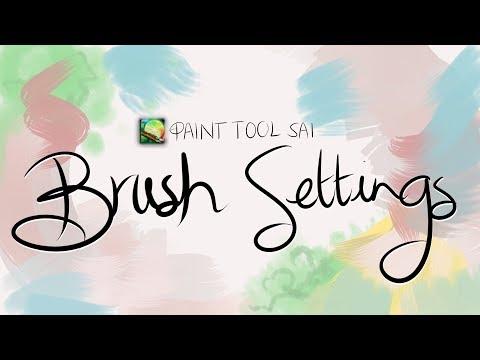 [ Paint Tool SAI - 𝐁𝐑𝐔𝐒𝐇 𝐒𝐄𝐓𝐓𝐈𝐍𝐆𝐒! ]