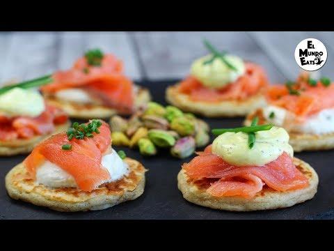 Smoked Salmon Blinis | El Mundo Eats recipe #140