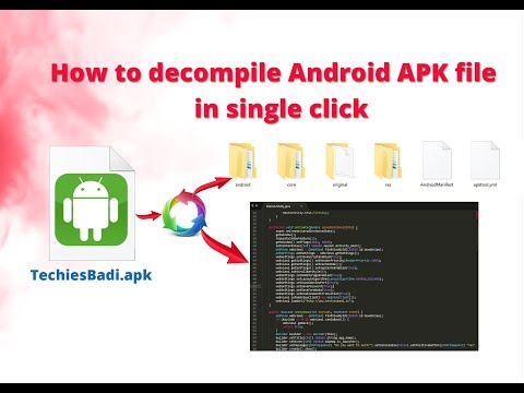 How to decompile Android APK file in single click