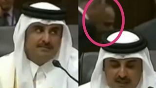 السيسى يقاطع امير قطر ويغادر قاعة القمة اثناء كلمته ورد فعل الامير على السيسى
