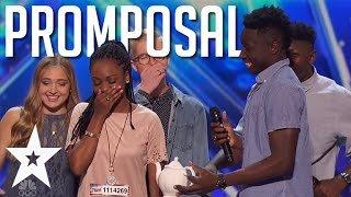 Guy Asks Acapella Bandmate To Prom On America's Got Talent