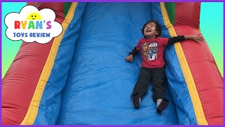Inflatable Outdoor Playground for kids bounce house! Giant Slides Children Play Center Fun