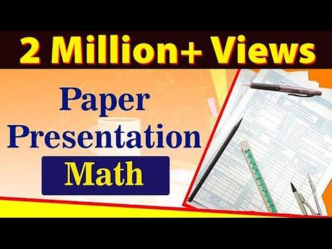 Math Paper Presentation Tips For Students | Exam Tips | LetsTute