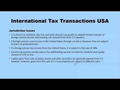 Tax Jurisdiction Issues