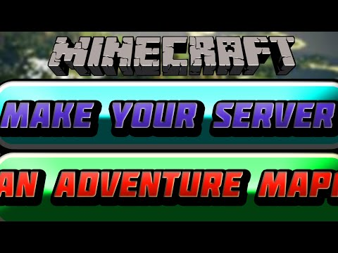 How to put Adventure maps on your server in Minecraft - Free and easy