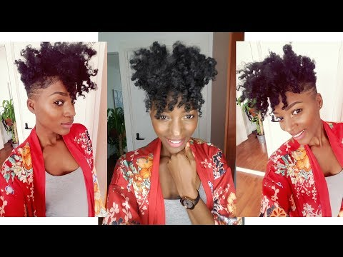 Natural Hair Style: Styling my NEW Tapered Cut