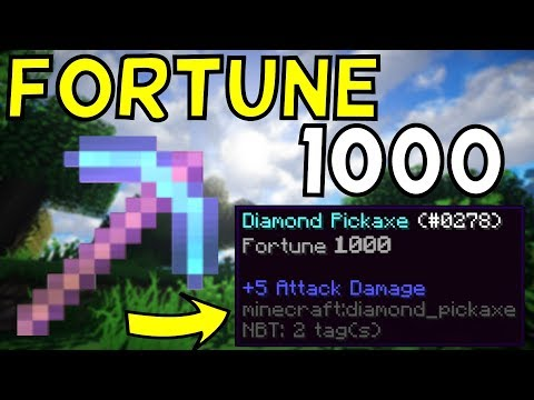 How To Get a Fortune 1,000 Pickaxe In Minecraft! 1.12+