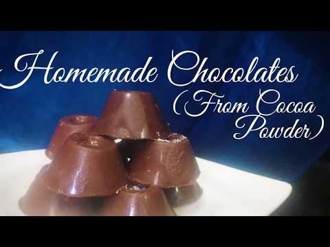 Homemade Chocolates | From Cocoa Powder | Easy Recipe