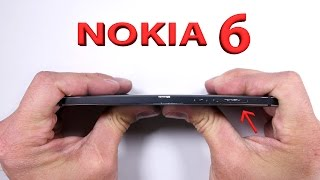 Nokia 6 Durability Test - Scratch, Burn, And BEND tested