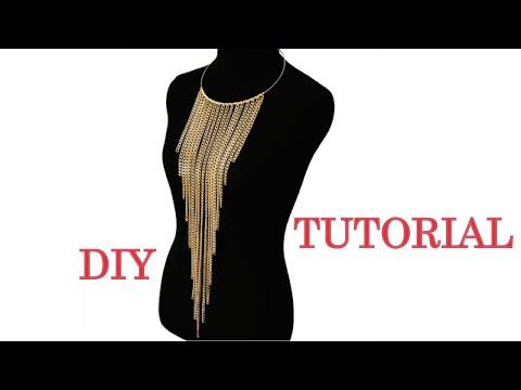 Long tassel chain necklace DIY | SHANiA
