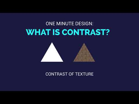 One Minute Design: What is Contrast?