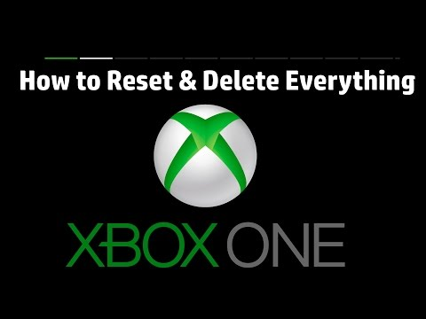 XBOX ONE How To Reset and Delete Everything