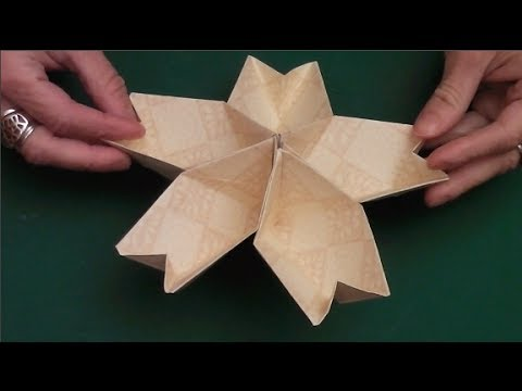 How to make the origami kusudama cherry Blossom Flower
