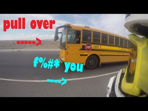 BUS DRIVER FREAKS OUT