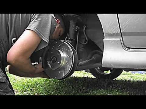 DIY How to change 05 - 06 Toyota Corolla XRS front brakes / brake pads and rotors