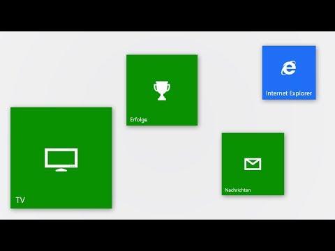 Xbox One - Microsoft Apps (TV, Achievements, Friends, Internet Explorer, Store)