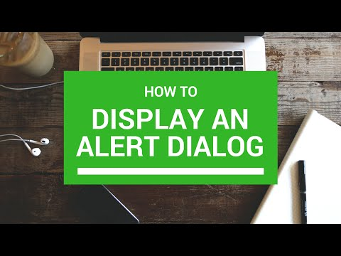 How to display Alert Dialog in Android