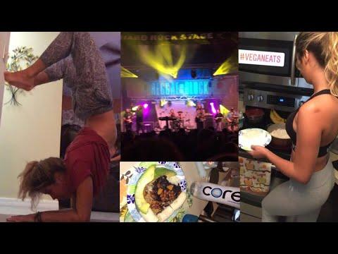 Event Vlog + Vegan Eats   Yoga & Hooping fun Reggae block party Orlando