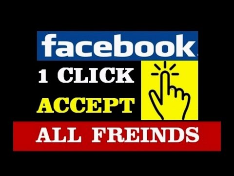 How to accept all friend request in 1 click with chrome.