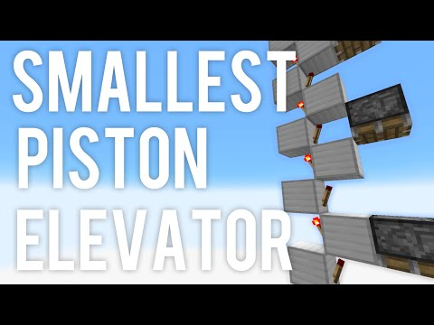 Smallest Piston Elevator In Minecraft! 1 WIDE - 1.9 Snapshot (9m/s)