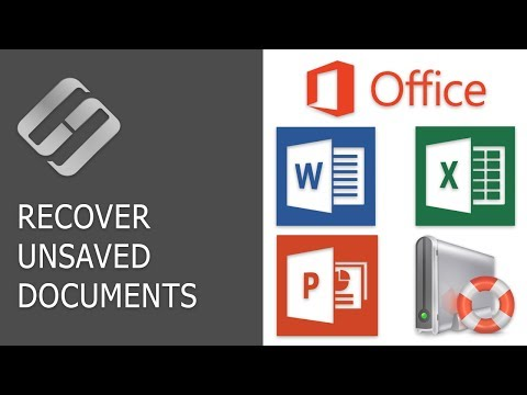 How to Recover an Unsaved or Lost Microsoft Word, Excel Document or PowerPoint Presentation ⚕️📖💥