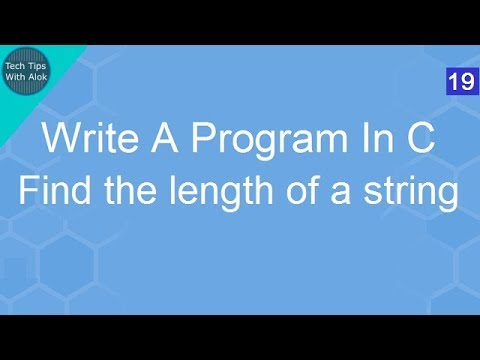 Write A Program In C to find the length of a string without using strlen()