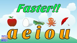 "Fun and Fast Short Vowel Phonics Song ""aeiou"" (Faster version!!)"