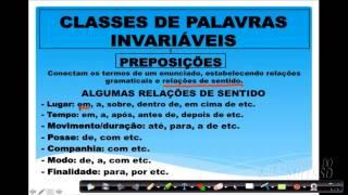 Português - Classes de Palavras Invariáveis