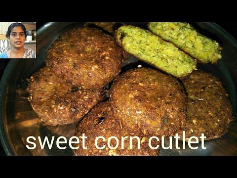 Sweet corn cutlet