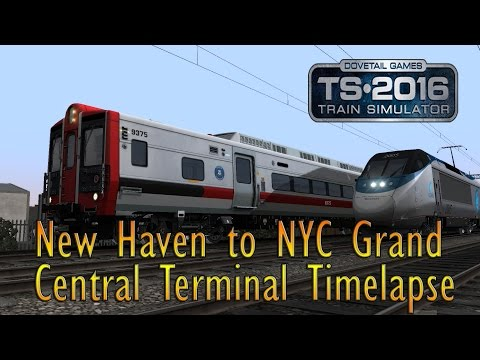 Train Simulator 2016 Timelapse: New Haven to New York Grand Central Terminal in a Metro-North M8