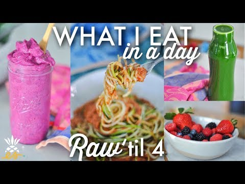 What I Eat In A Day: Raw til 4 | Plant-based Vegan