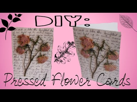 DIY: Pressed Flower Card