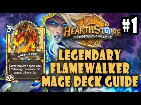 Legendary Flamewalker Mage Hearthstone Deck Construction & Play Guide Part 1