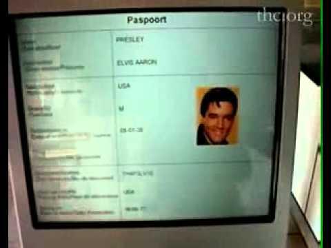 Fake document of Elvis