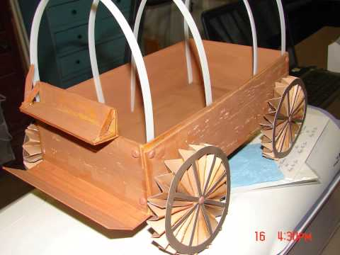 Oregon Trail Instructional Video Table Top Covered Wagon