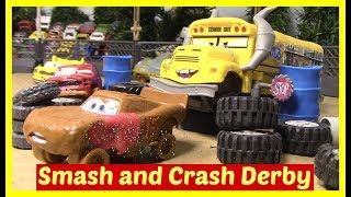 Disney Cars Smash and Crash Derby McQueen Cruz Ramirez Miss Fritter Cars 3 Toys Lightning McQueen