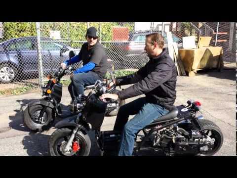 Honda Ruckus vs Maddog gy6 Ruckus replica 49cc race