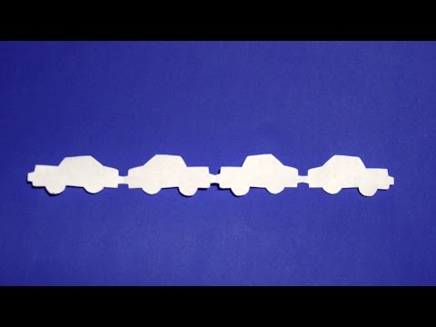 How to make a car garlands of paper ♡ with own hands