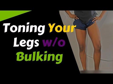 Toning Your Legs Without Bulking