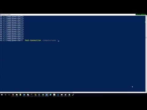 How to ping a server with Powershell