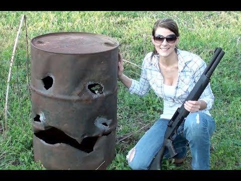 THIS GIRL CAN HANDLE A SHOTGUN!!
