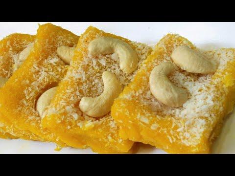 सिर्फ़ 10मिनट में बनायें ये नये तरीक़े की मिठाई बिना मावा बिना कंडेन्स मिल्क।mango recipes dessert
