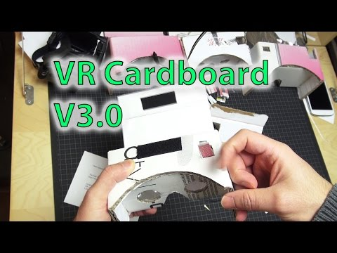 DIY - VR Cardboard Goggles V3.0 (up to 6